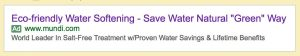 "Google AdWords Ad For Magnetizer Home Water Conditioner ""RWE-S"""