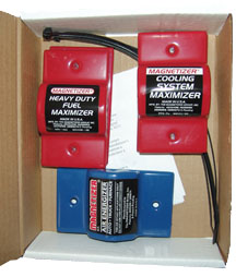 Engine Performance Magnetizer for a 4 Cyl. car