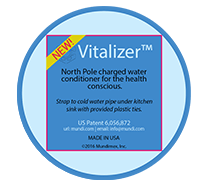 Magnetizer@ Vitalizer® North Pole System For Healthy Negative Ion Water
