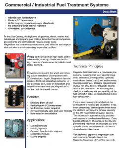 Magnetizer Comercial and Industrial Fuel Applications