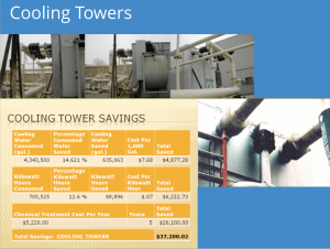 Magnetizer on Cooling Towers - one of the best examples of its non-chemical water treatment application