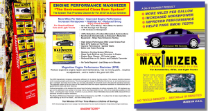 Engine Performance Magnetizer in a Point of Sale Display