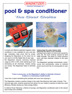Magnetizer Swimming Pool & Spa System Reducing Chlorine and more