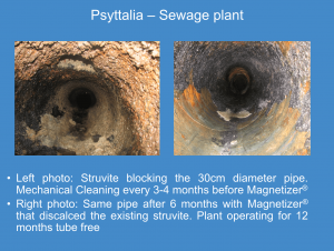 Magnetizer cleaning struvite in Psyttalia Waste Water Plant, the EU largest.