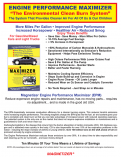 Magnetizer Engine Performance Optimizer Systems