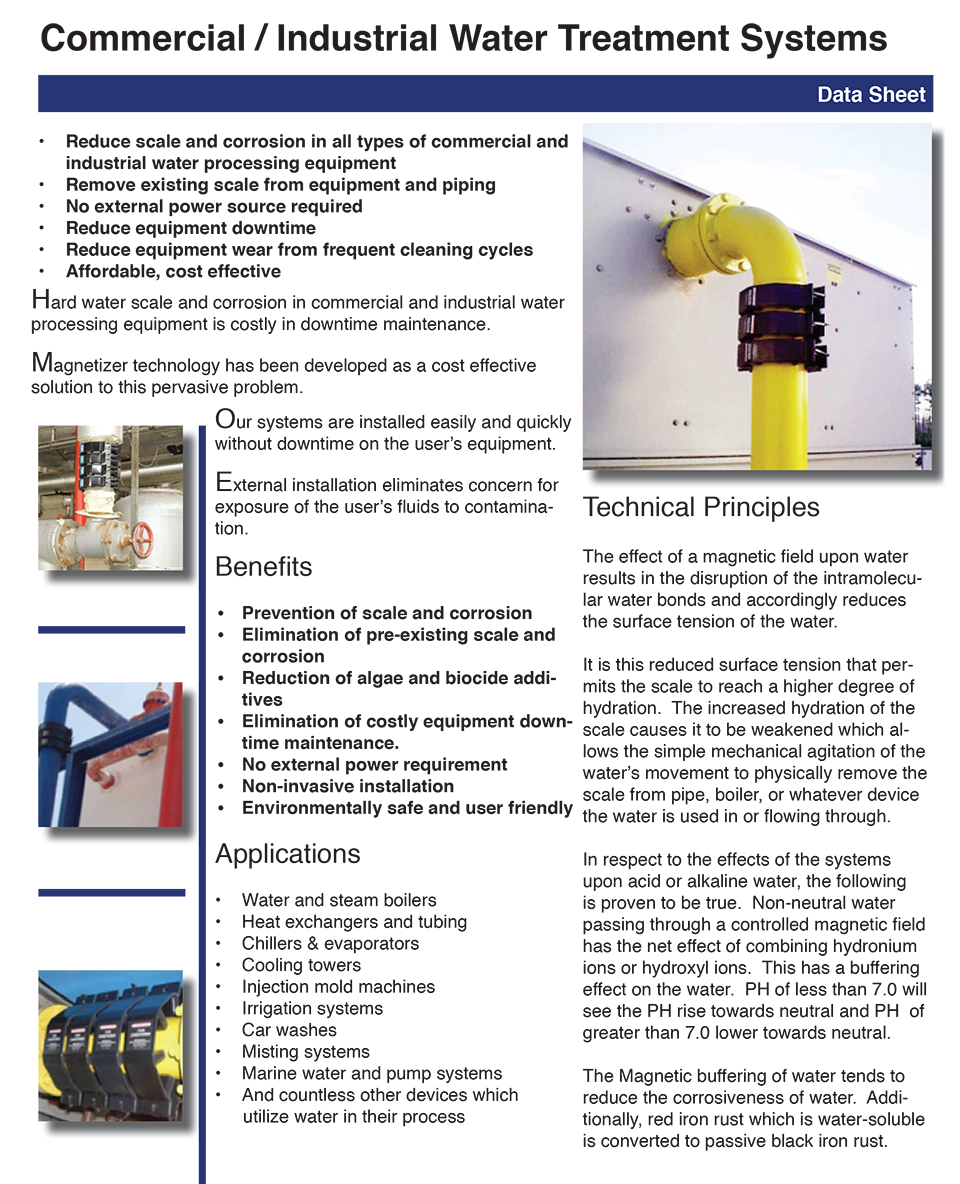 Non-chemical water treatment by Magnetizer™