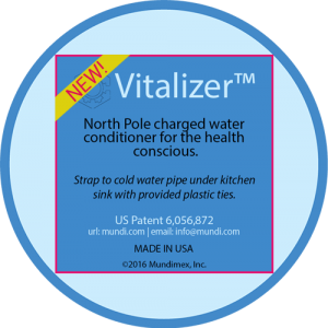 Vitalizer®'s Negative Ions North Pole System For Healthy Drinking Water