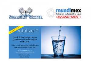 Starfire Water™ and Mundimex announce joint distribution of Vitalizer™