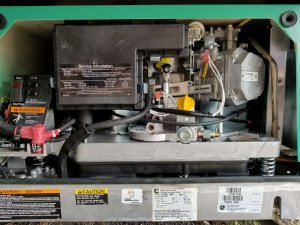 "A larger Generator QG 7000 will use the ""RVGFS"" only as there is no air intake line to accommodate ""TMP NEG"" air unit."