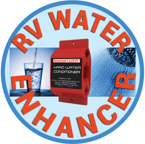 Magnetizer Water Enhancer for your RV, motorhome, fifth wheeler, camper. It will get you better tasting water for your motorhome travel. Attach to city or home hose.