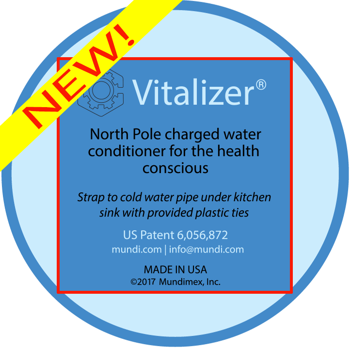 Magnetizer® Vitalizer® North Pole System For Healthy Negative Ion Water