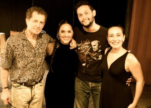 After tango show by Pablo Zigler in Teatro LATEA, NYC with opera singer Giselxanath and dancer Laurence Martin