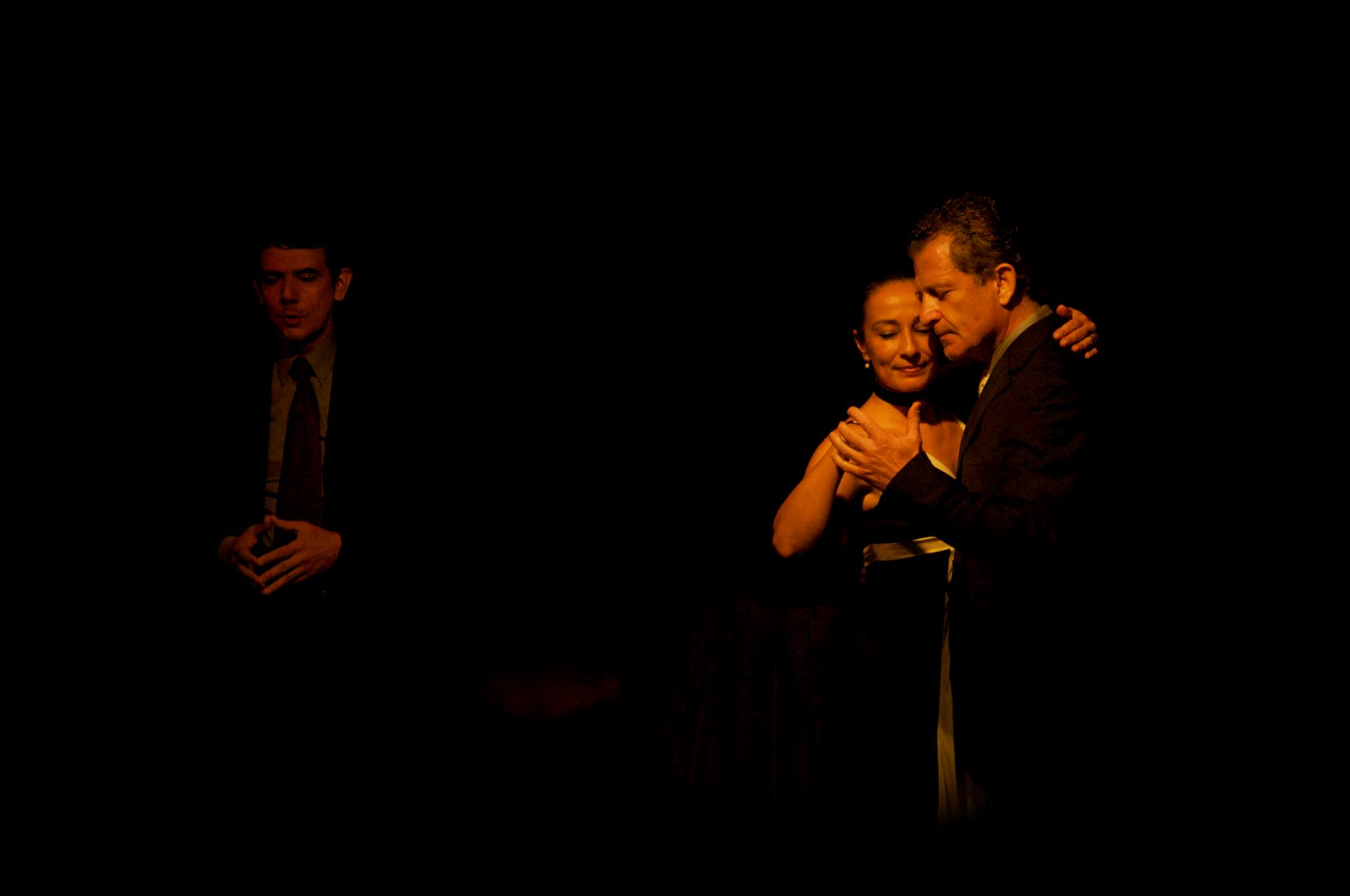 In Teatro LATEA, NYC, with Laurence Martin at a tango show by Pablo Ziegler t a tango show in Teatro LATEA, NYC