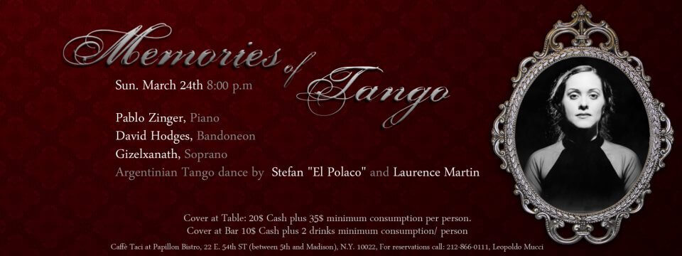 Tango with Pablo Zigler announcement