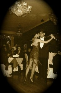 Dancing with Beatriz Cisneros in Buenos Aires Tango Restaurant, Forest Hills, NY
