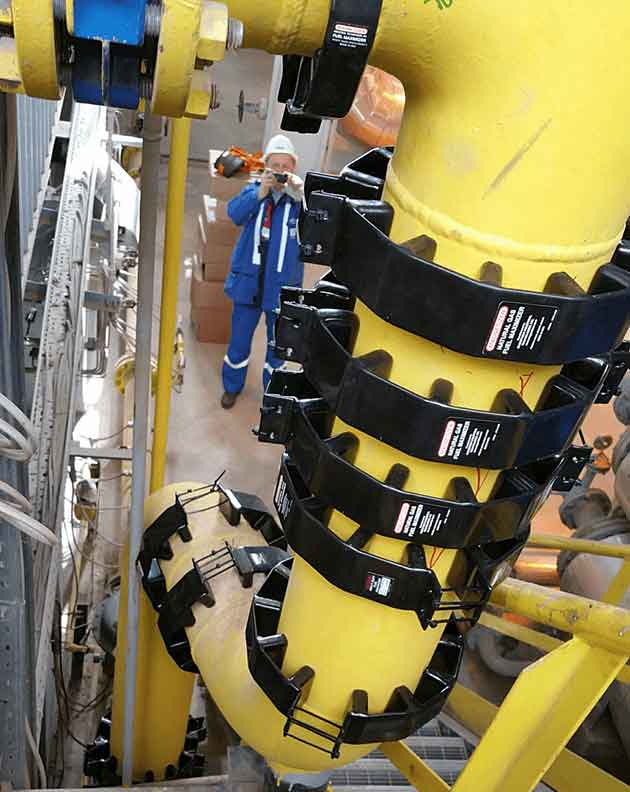Magnetizer installation at Gazprom in a 60 ton steam boiler for NG (natural gas) savings