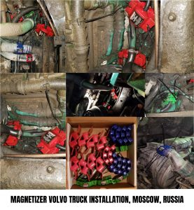 Magnetizer Volvo Truck Install in Russia